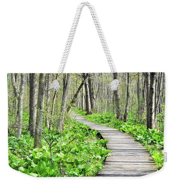 Indiana Dunes Great Green Marsh Boardwalk Weekender Tote Bag