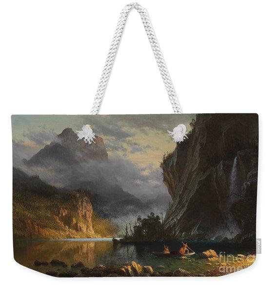 Indians Spear Fishing Weekender Tote Bag