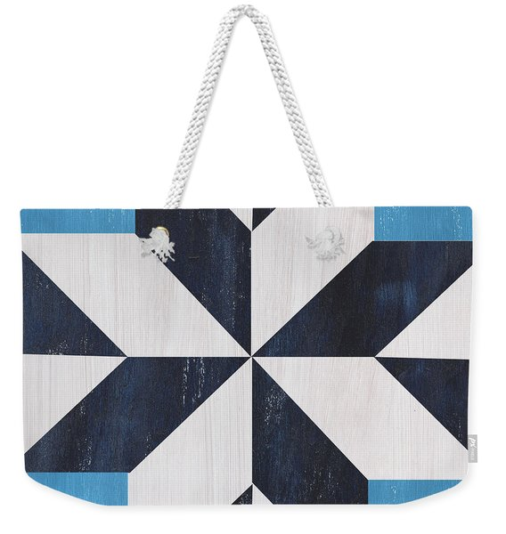 Indigo And Blue Quilt Weekender Tote Bag
