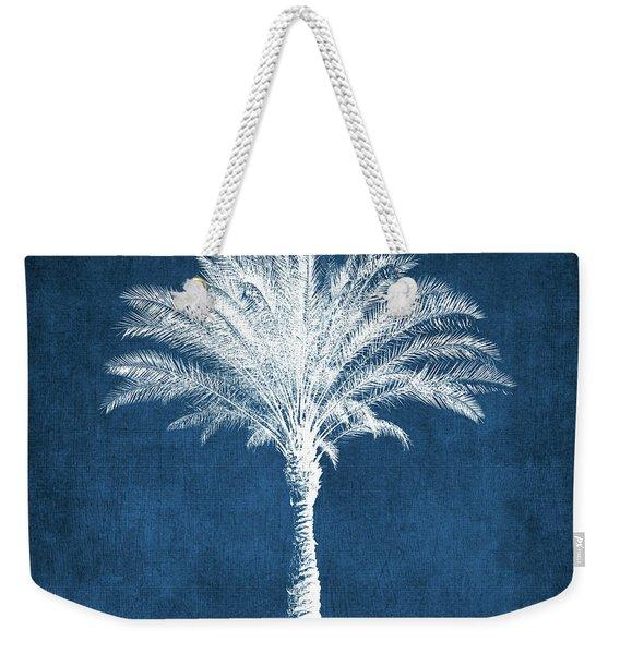 Indigo And White Palm Tree- Art By Linda Woods Weekender Tote Bag