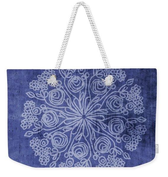 Indigo Mandala 2- Art By Linda Woods Weekender Tote Bag