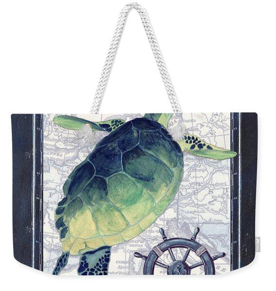 Indigo Maritime 1 Weekender Tote Bag