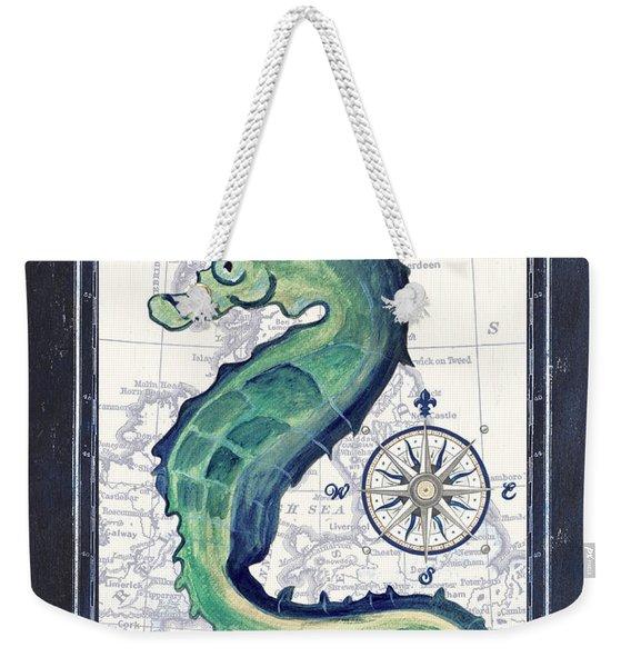 Indigo Maritime 2 Weekender Tote Bag