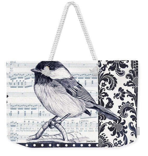 Indigo Vintage Songbird 2 Weekender Tote Bag