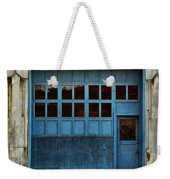 Weekender Tote Bag featuring the photograph Industrial Blue by Patricia Strand