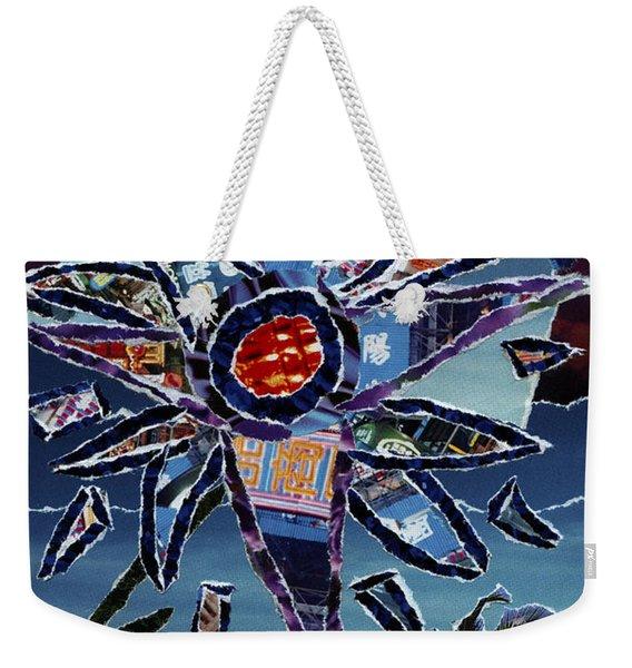 Industrial Flower Weekender Tote Bag