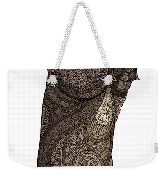 Weekender Tote Bag featuring the drawing Infatuated Otter by ZH Field
