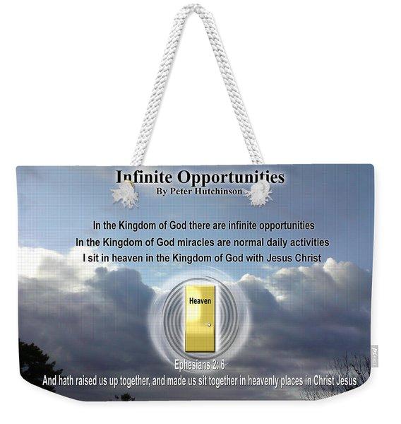 Infinite Opportunities Weekender Tote Bag
