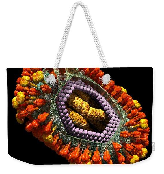Influenza Virus Cutaway 5 Weekender Tote Bag