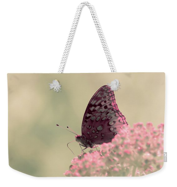 Weekender Tote Bag featuring the photograph Infrared Fritillary 2 by Brian Hale