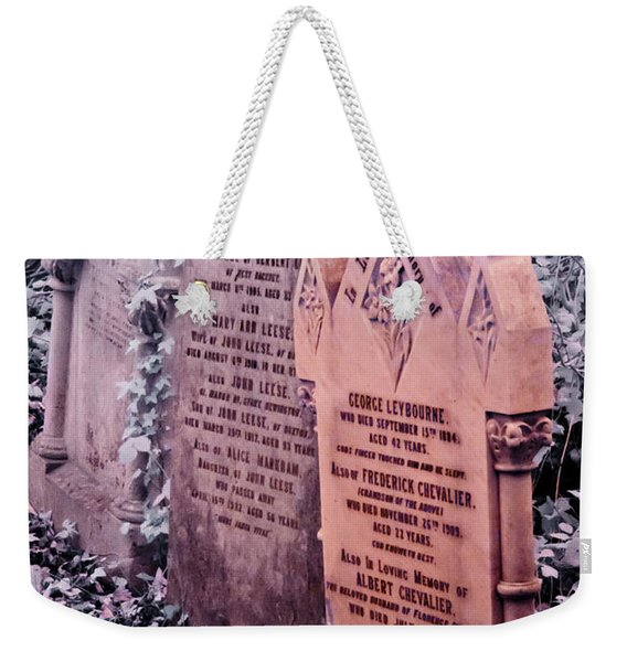 Music Hall Stars At Abney Park Cemetery Weekender Tote Bag