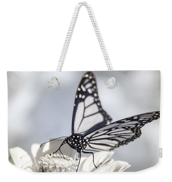 Weekender Tote Bag featuring the photograph Infrared Monarch 2 by Brian Hale