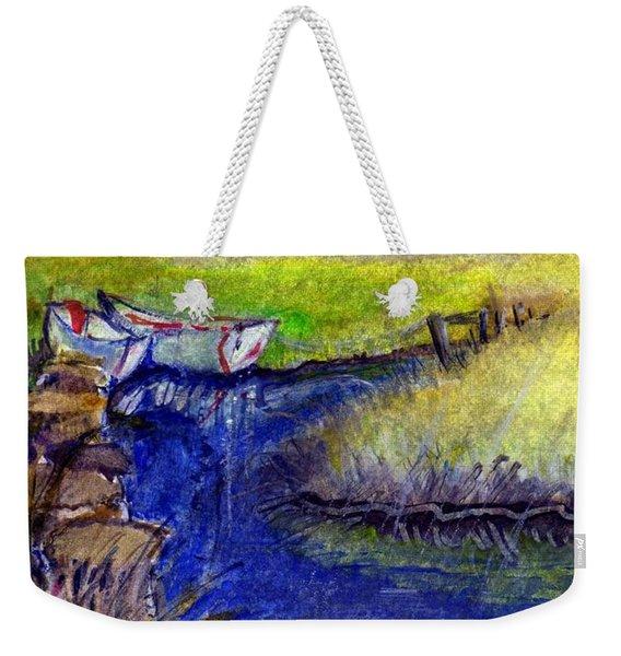 John Boat Creek Weekender Tote Bag