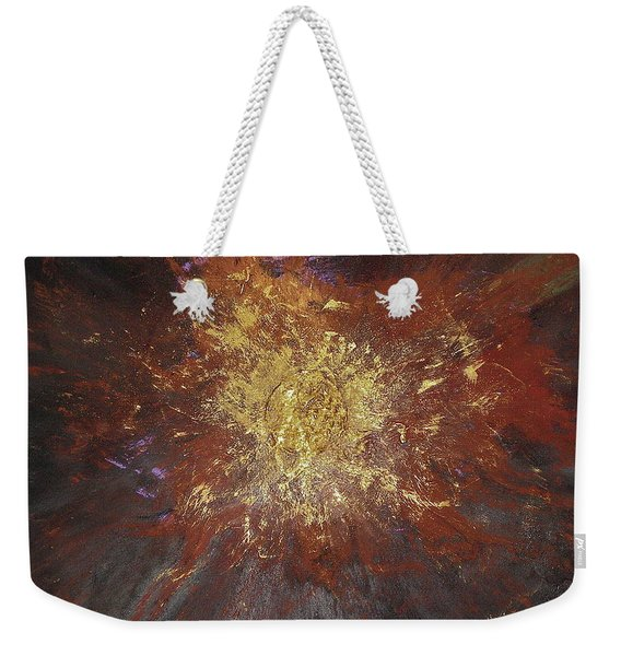 Weekender Tote Bag featuring the painting Inner Fire by Michael Lucarelli