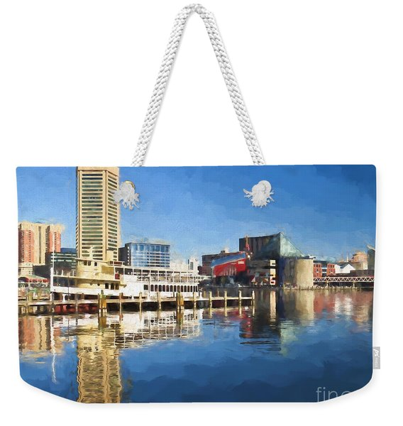 Inner Harbor Reflections  Weekender Tote Bag