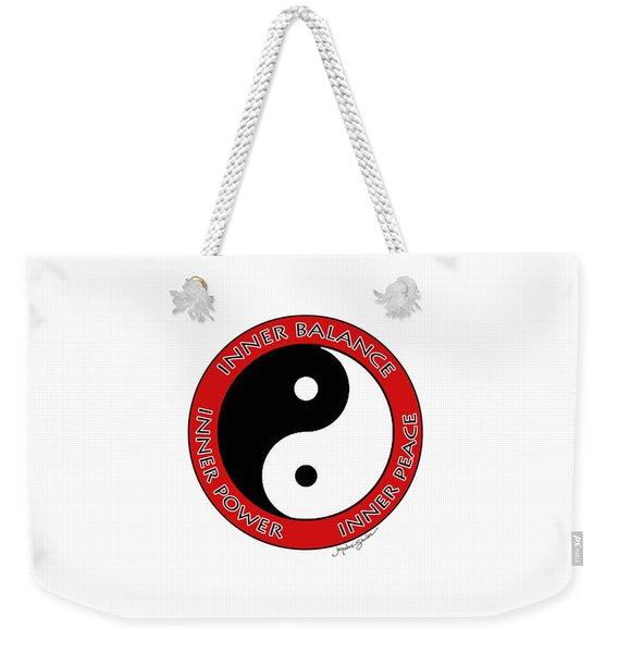 Inner Peace Weekender Tote Bag