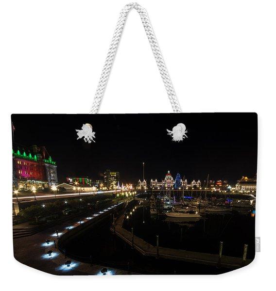 Inner Harbour Of Victoria Bc Weekender Tote Bag