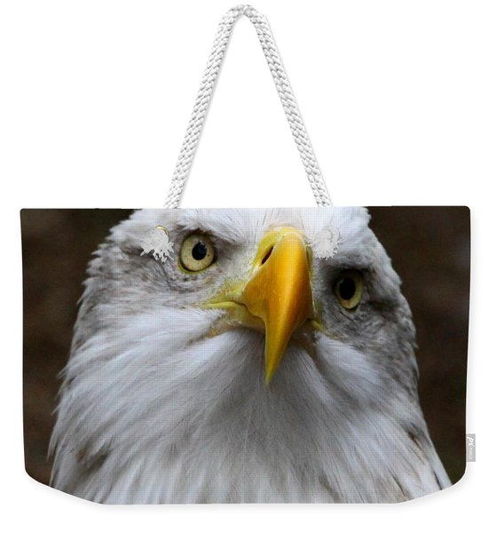 Inquisitive Eagle Weekender Tote Bag