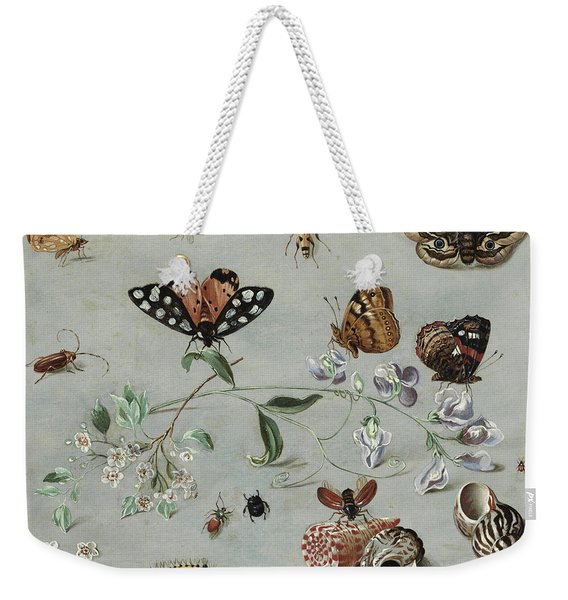 Insects, Butterflies And Clams Weekender Tote Bag