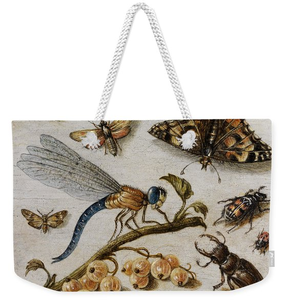 Insects, Currants And Butterfly Weekender Tote Bag