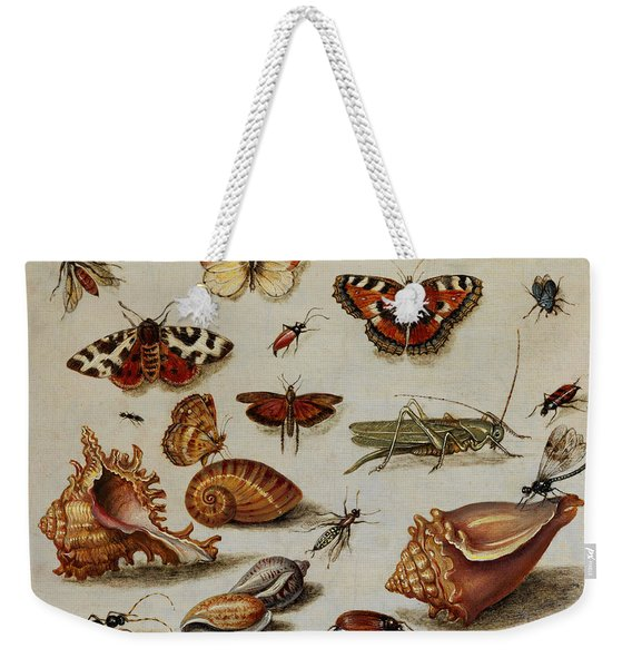Insects, Shells And Butterflies Weekender Tote Bag