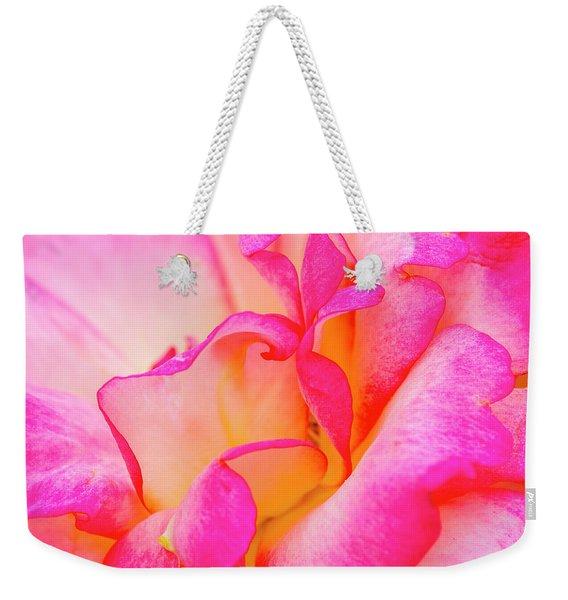 Inside Rose Petal Curves Weekender Tote Bag