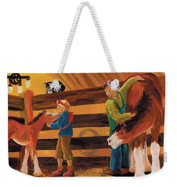 Inside The Barn Weekender Tote Bag
