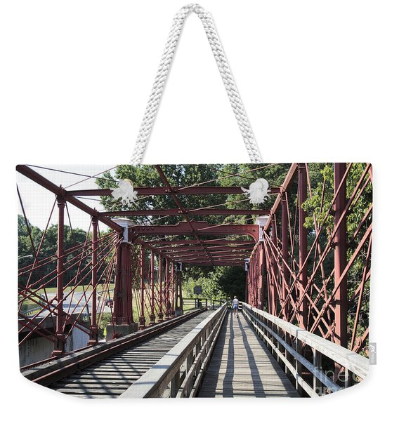Inside The Bollman Truss Bridge At Savage Maryland Weekender Tote Bag