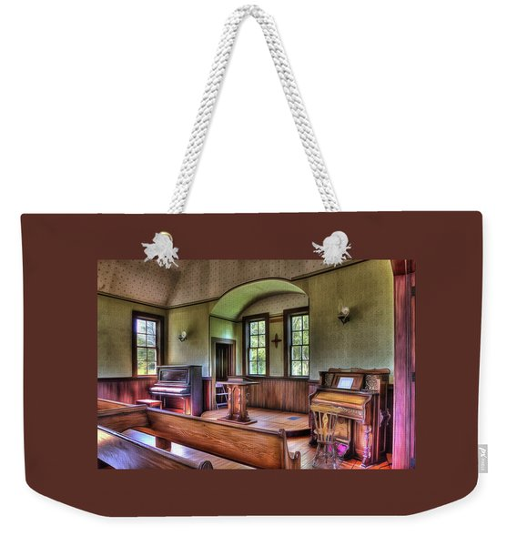 Inside The Oysterville Church  Weekender Tote Bag