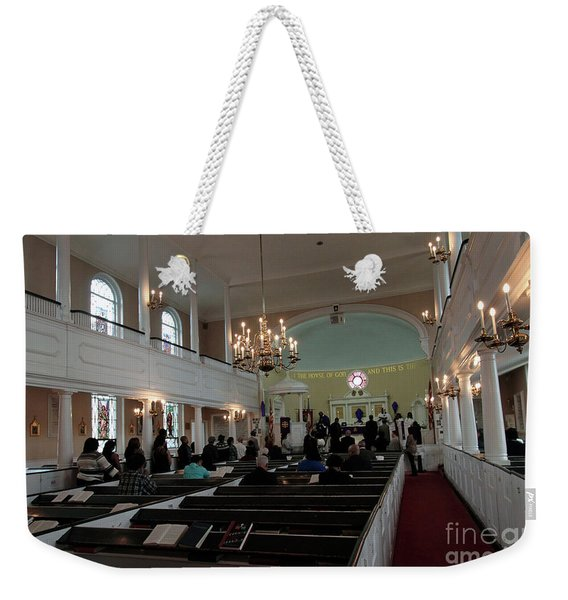 Inside The S. Georges Church Episcopal Anglican Weekender Tote Bag