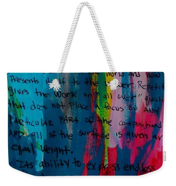 Inspiration From Warhol Weekender Tote Bag
