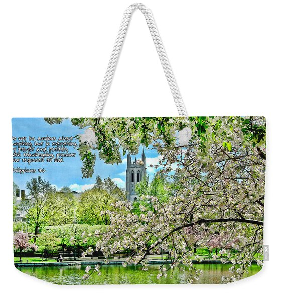 Inspirational - Cherry Blossoms Weekender Tote Bag