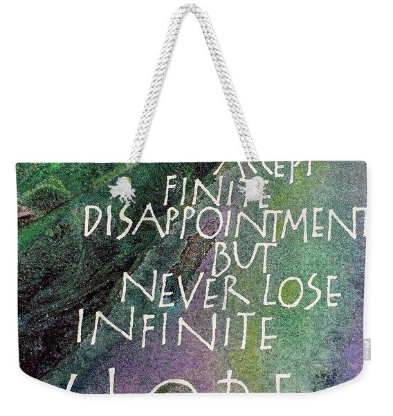 Inspirational Saying Hope Weekender Tote Bag
