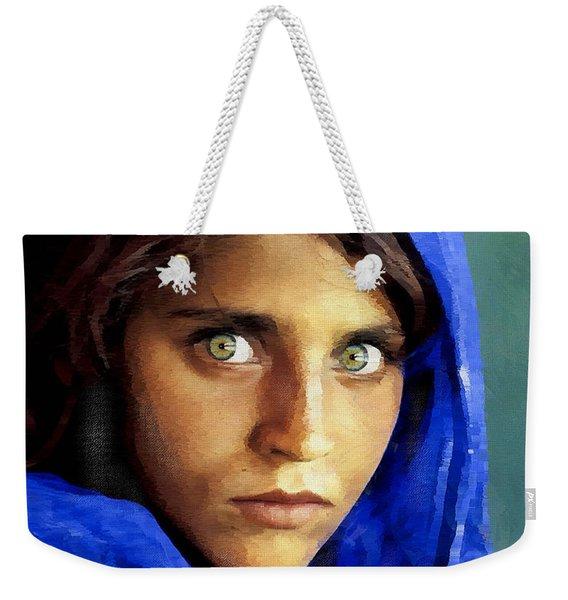 Inspired By Steve Mccurry's Afghan Girl Weekender Tote Bag