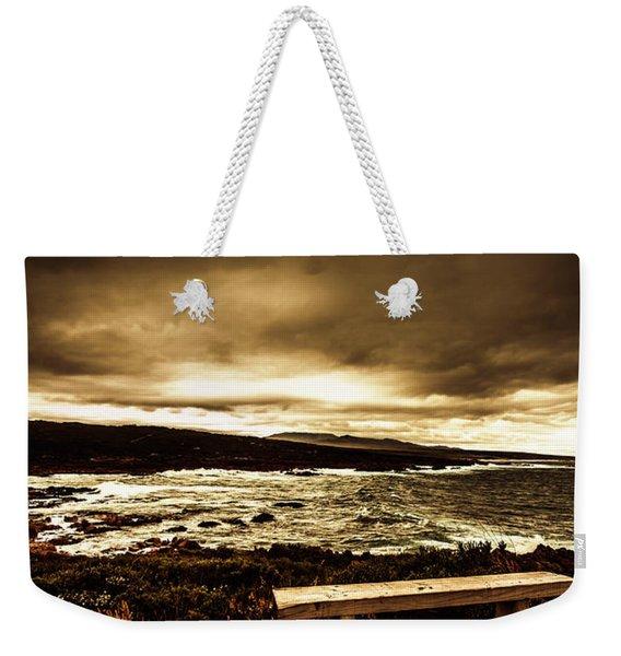 Intense Coastline Drama Weekender Tote Bag