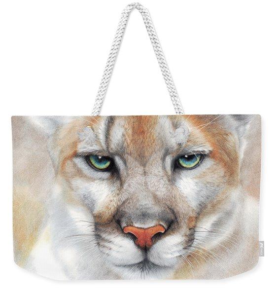 Intensity - Mountain Lion - Puma Weekender Tote Bag
