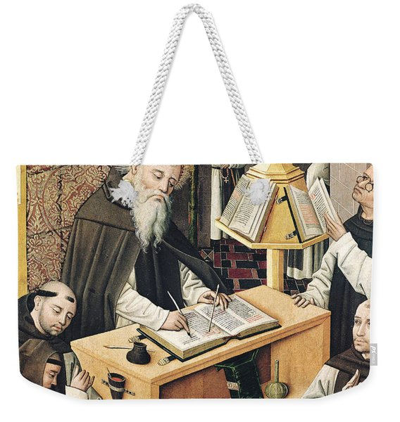 Interior Of A Scriptorium Weekender Tote Bag