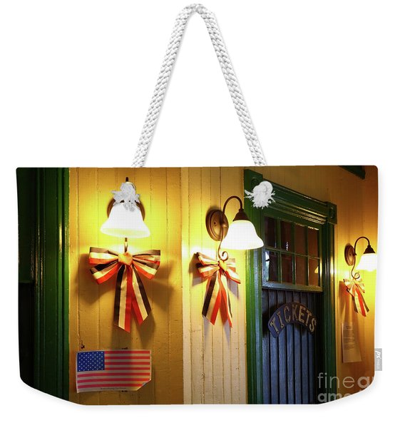 Interior Of Brunswick Station Maryland Weekender Tote Bag