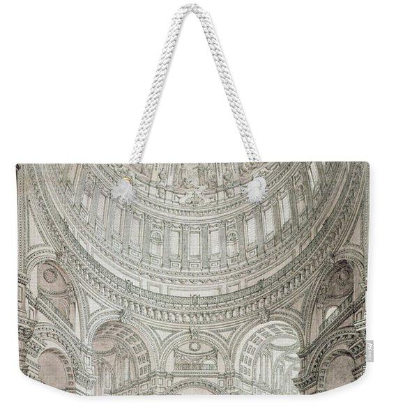 Interior Of Saint Pauls Cathedral Weekender Tote Bag
