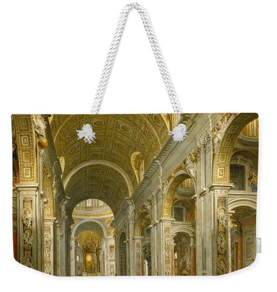 Interior Of St. Peter's - Rome Weekender Tote Bag