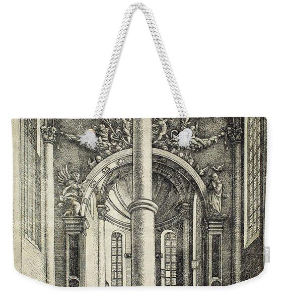 Interior Of The Church Of Saint Katherine Weekender Tote Bag
