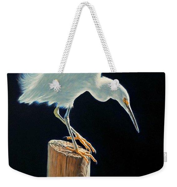 Interlude - Snowy Egret Weekender Tote Bag
