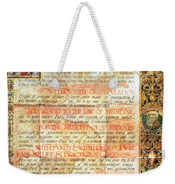 International Code Of Medical Ethics Weekender Tote Bag
