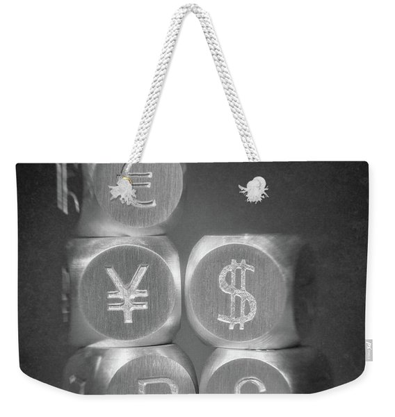 International Currency Symbols Weekender Tote Bag