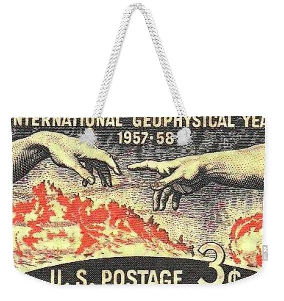 International Geophysical Year Stamp Weekender Tote Bag
