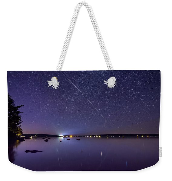 International Space Station Over Branch Lake Weekender Tote Bag
