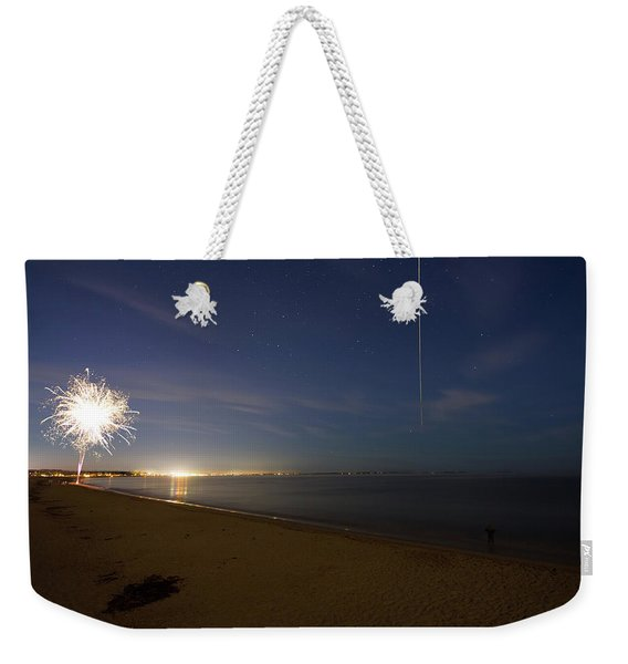International Space Station Over Old Orchard Beach Maine Weekender Tote Bag