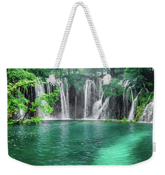 Into The Waterfalls - Plitvice Lakes National Park Croatia Weekender Tote Bag