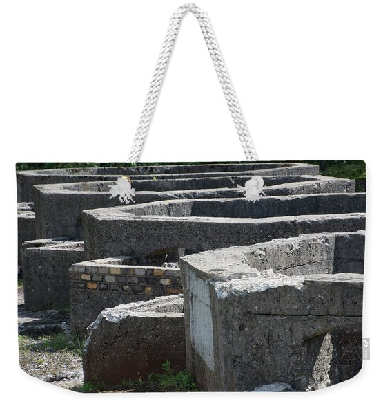Into The Ruins 3 Weekender Tote Bag
