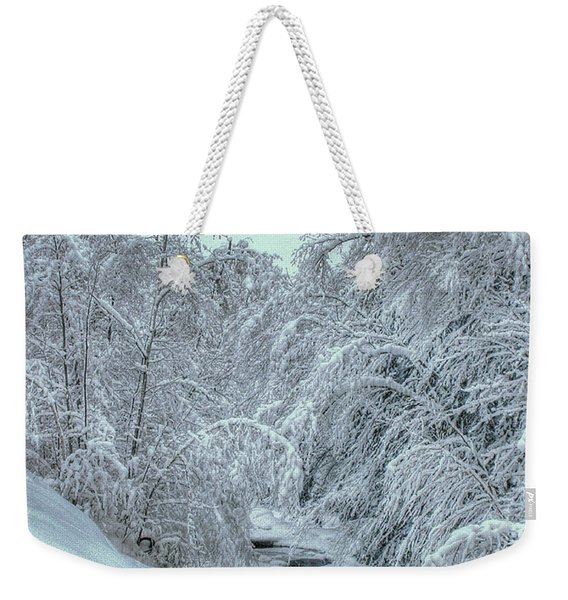 Weekender Tote Bag featuring the photograph Into White by Wayne King